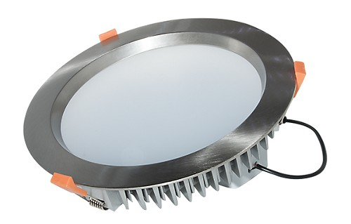 D/L, 30 Watts, 225 x 50mm,     IC-F, Dimmable, IP 44, Nickel Finish. 4000K. Good Buying!