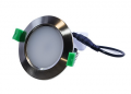 D/L, 10 Watts, 90 x 53mm, IC-F, Dimmable,  IP40, 3000k, Brushed Nickel