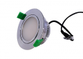 D/L, 12 Watts, 110 X 53mm, IC-F, Dimmable, Swivels, IP40, 3000K, Chrome