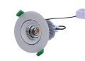 D/L, 10 Watts, 105 X 95mm, IC-F, Dimmable, Swivels, IP40, 3000K, White