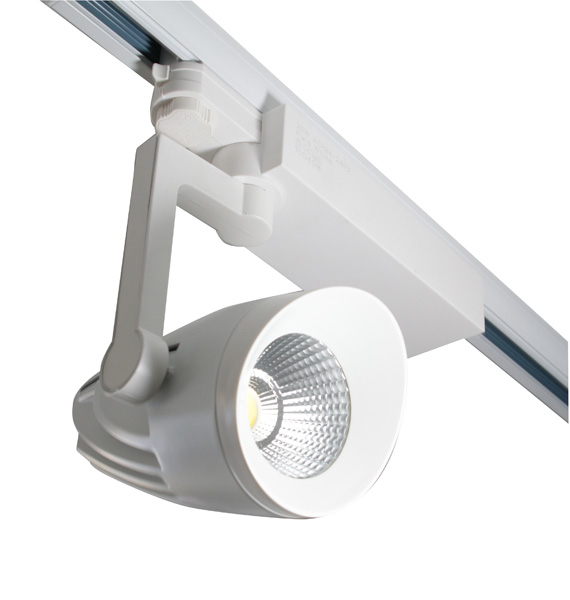 Track Light: LED 30 Watts, white body, 6000k,Three circuit.