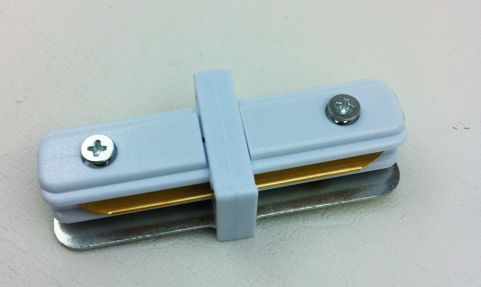 """""""l"""" shape connector for single circuit track - white"""