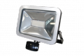 LED floodlight, 30 Watts, Outdoor rated IP 65. Adjustable sensor with 1-12 m detective distance